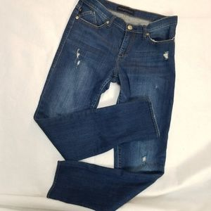 WHBM distressed studded jeans 8 cropped